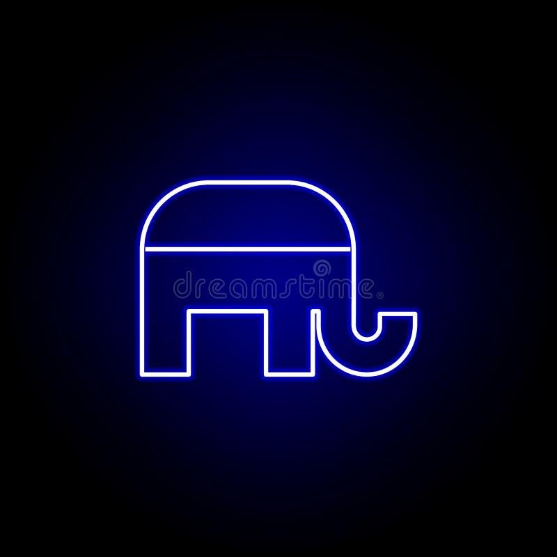 Valrepublikanska partietsymbol i neonstil Tecknet och symboler kan anv?ndas f?r reng?ringsduken, logoen, den mobila appen, UI, UX royaltyfri illustrationer