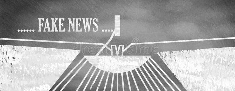 Vals nieuws en concept de krantekoppen royalty-vrije illustratie