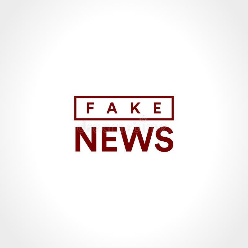 Vals nieuwspictogram Onthulling van geclassificeerde informatie Van het de informatieagentschap van de Minimalisticstijl minimali stock illustratie