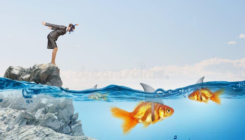 Vals risico voor uw zaken royalty-vrije stock fotografie