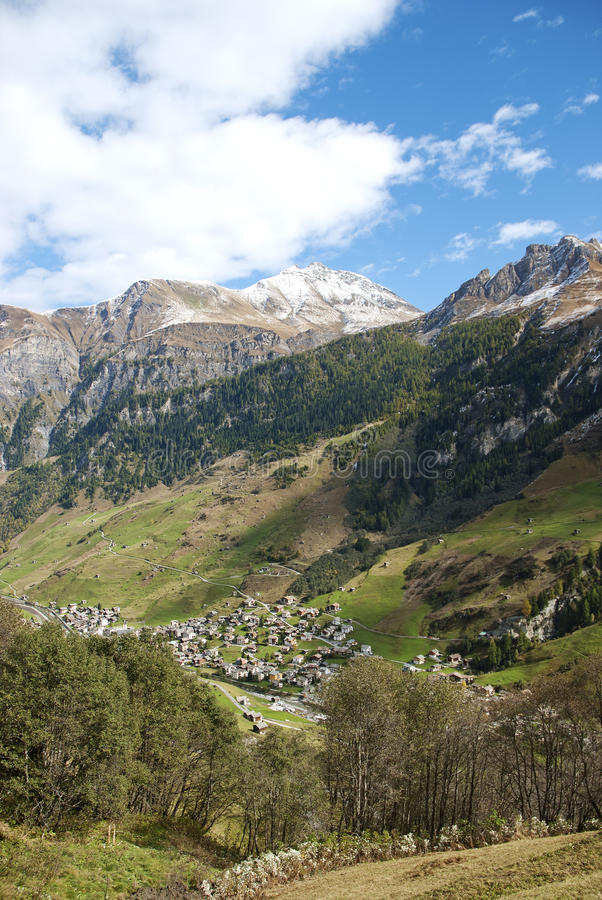 Download Vals Village In Switzerland Alps Stock Image - Image of travel, rural: 19303725
