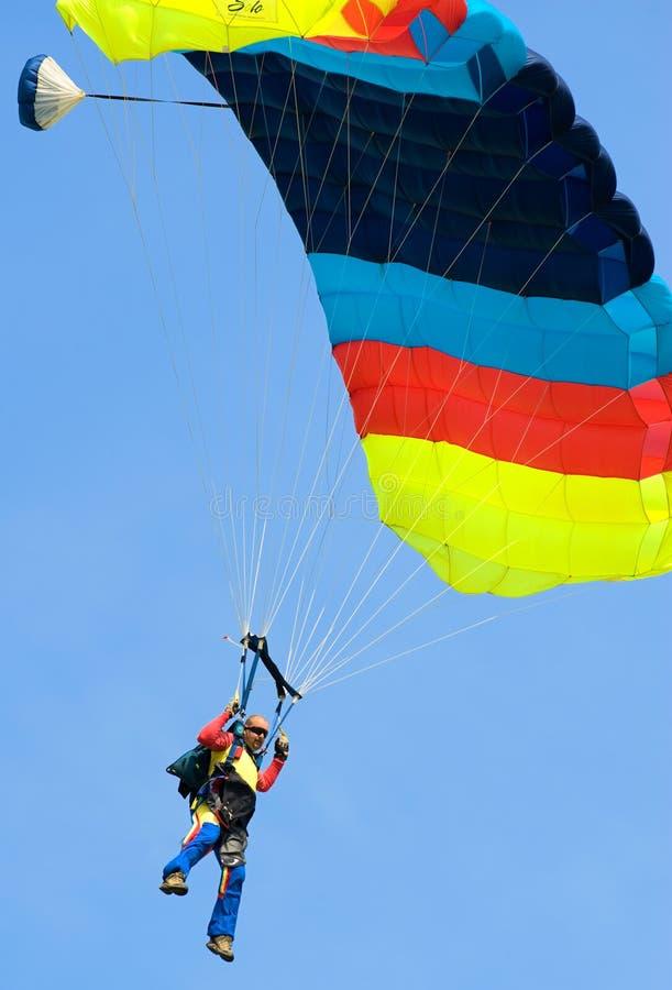 Valschermjagers van Nationale Club Skydiving stock afbeeldingen
