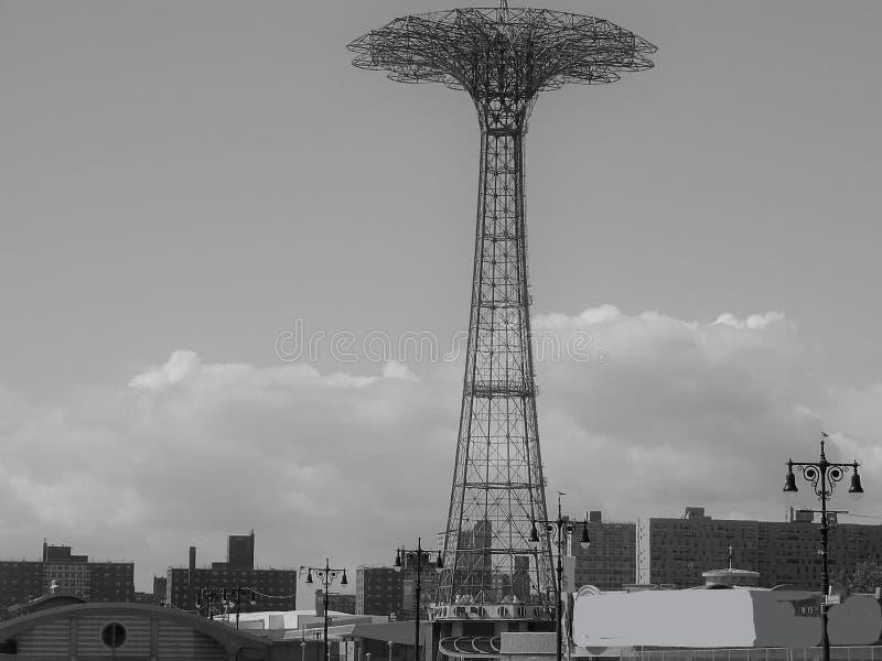 Valschermrit op de promenade in Brooklyn royalty-vrije stock afbeeldingen