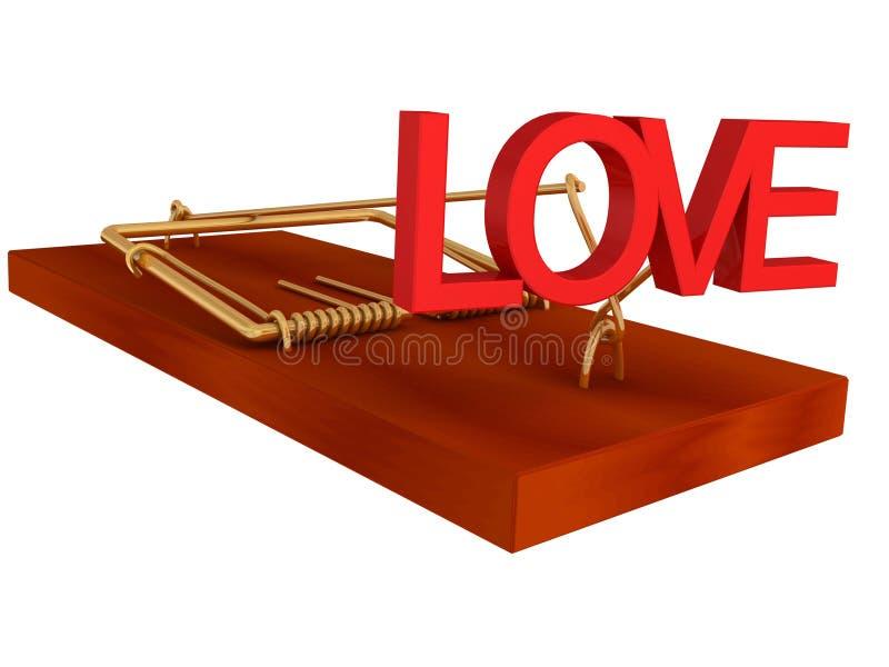 Valse belofte van liefde stock illustratie