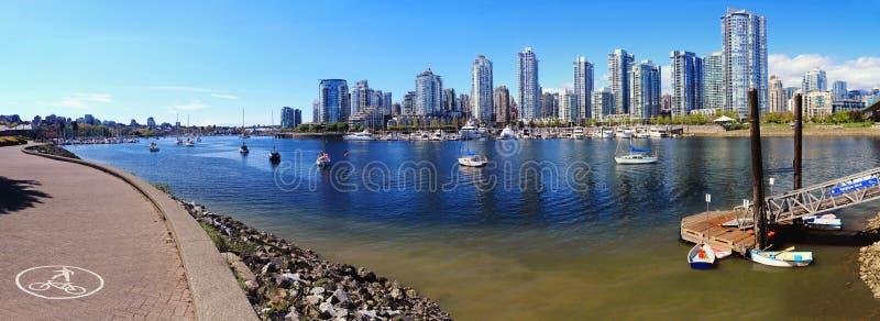 Valse Kreek van Kijkerdok bij Cambie-Brug, Vancouver royalty-vrije stock foto