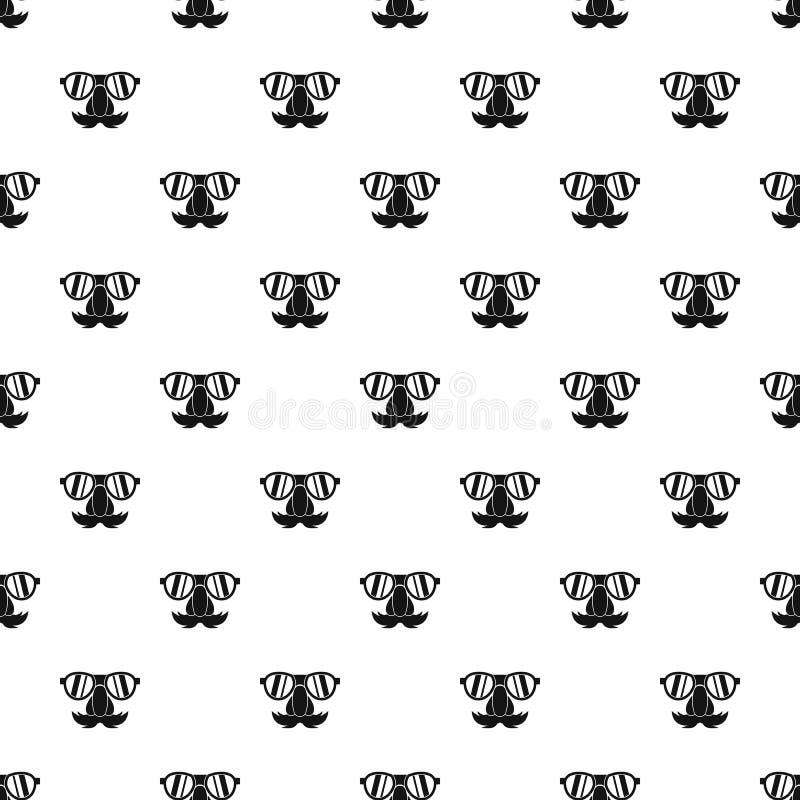 Valse neussnor, wenkbrauwen, glazenpatroon stock illustratie