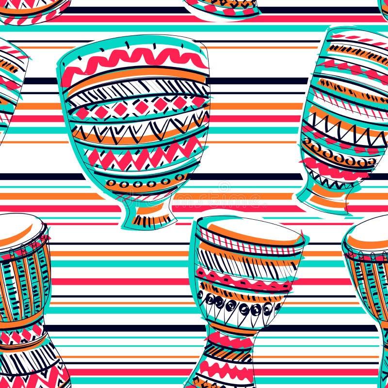 Valstamtam med färgstänk i vattenfärgstil stock illustrationer