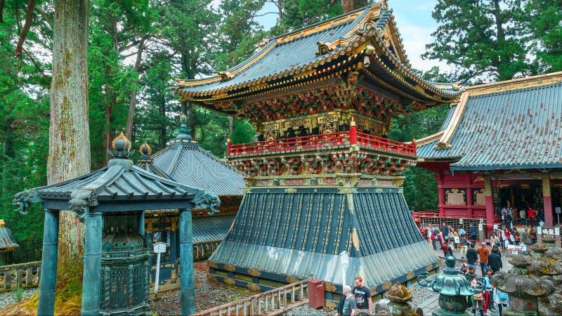 Valstorn (Koro) på dengu relikskrin i Nikko, Japan royaltyfri bild