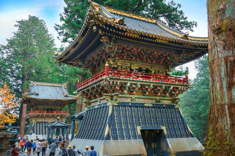 Valstorn (Koro) på dengu relikskrin i Nikko, Japan royaltyfri fotografi
