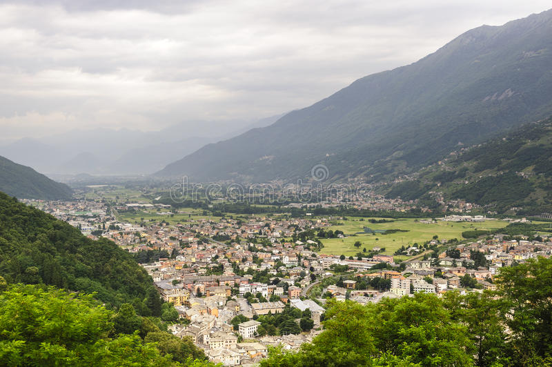 Download Valtellina, panoramic view stock image. Image of morbegno - 25966935