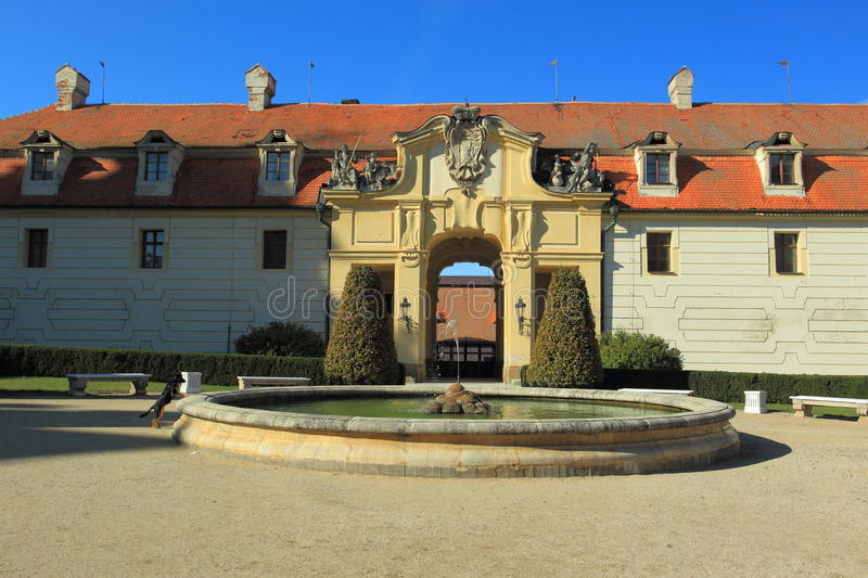 Valtice chateau stock photos