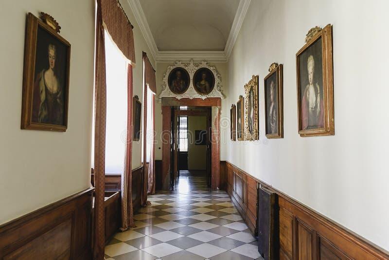 Valtice pałac 18th c w republika czech, poprzedni siedzenie rządzący książe Liechtenstein Architekt Johann Erlach obrazy royalty free