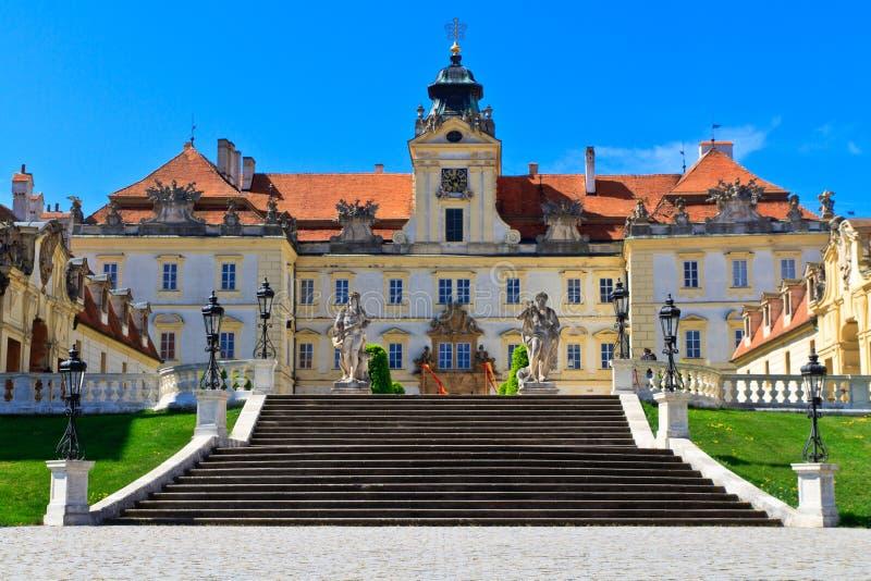 Valtice pałac Unesco Światowego Dziedzictwa Miejsce zdjęcie stock