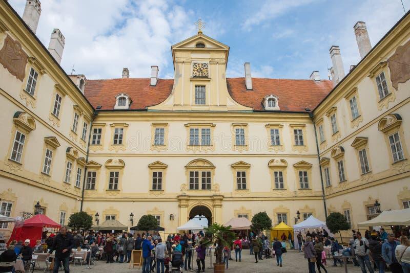 Valtice pałac w Południowym Morawskim regionie republika czech zdjęcie royalty free
