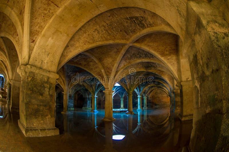 Valting ceiling. Wonderful subterranean reservoir water flooding royalty free stock images