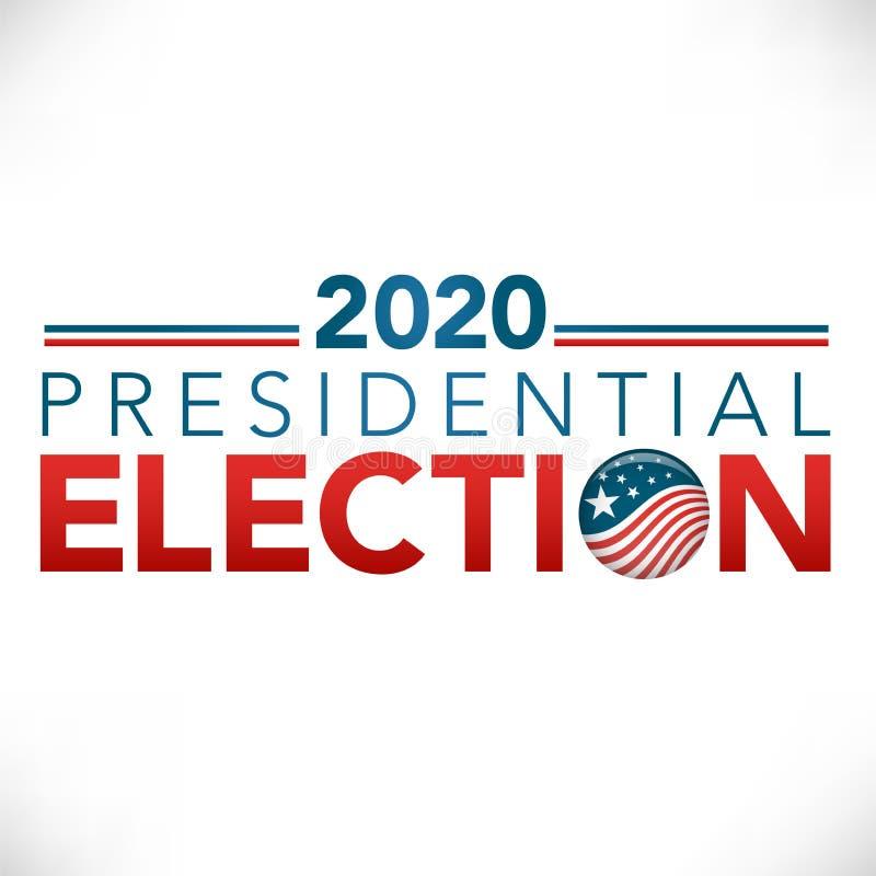 Valtitelradbanret & röstar 2020 med patriotiska stjärnor och Stri royaltyfri illustrationer