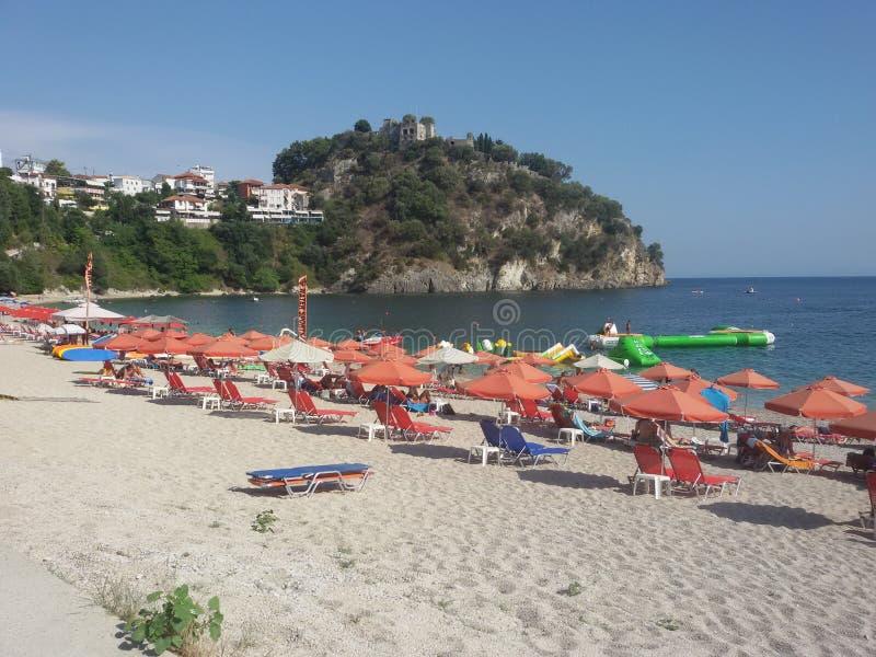 Valtos strand, Parga, Grekland royaltyfri fotografi