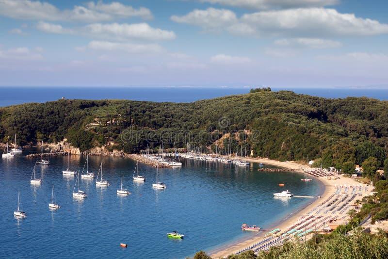 Valtos strand Parga Grekland arkivfoton