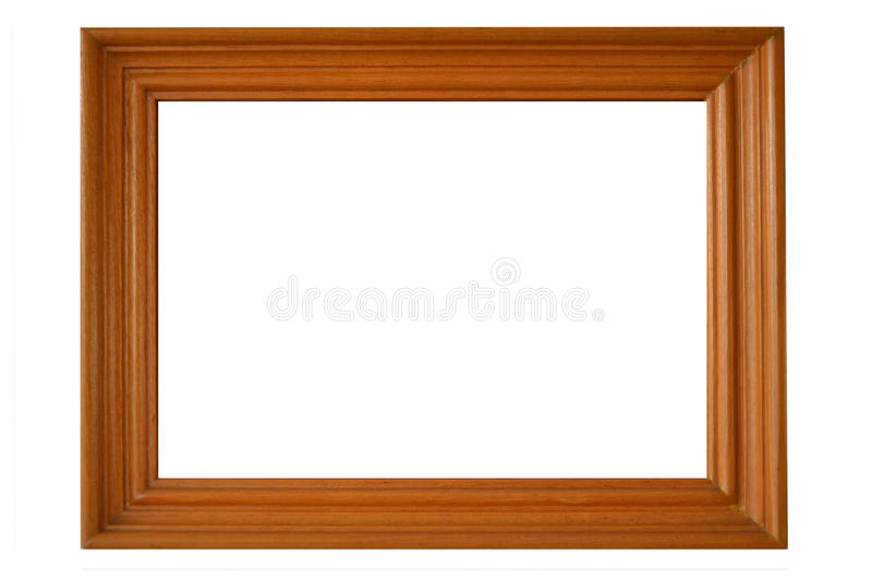 Valuable brown teak wood picture frame royalty free stock photography