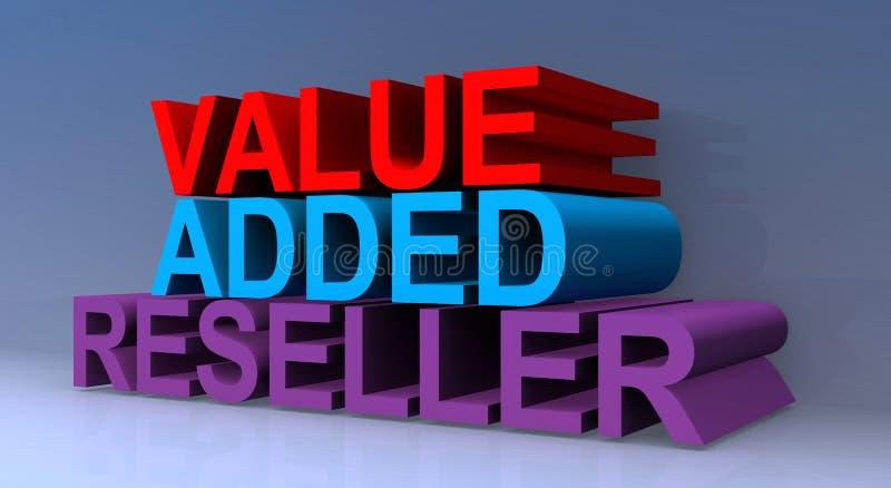 Value added reseller. On blue vector illustration