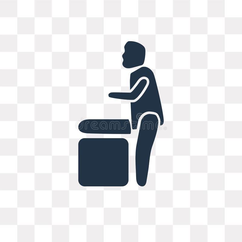 -VALUE Czerni wypełniającą wektorową ikonę odizolowywającą na przejrzystym backgr ilustracja wektor