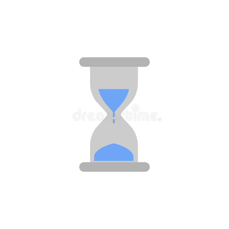 Value, hourglass, money, finance two color blue and gray icon royalty free illustration