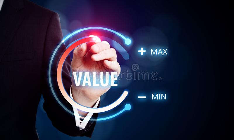 Value and innovation concept stock image