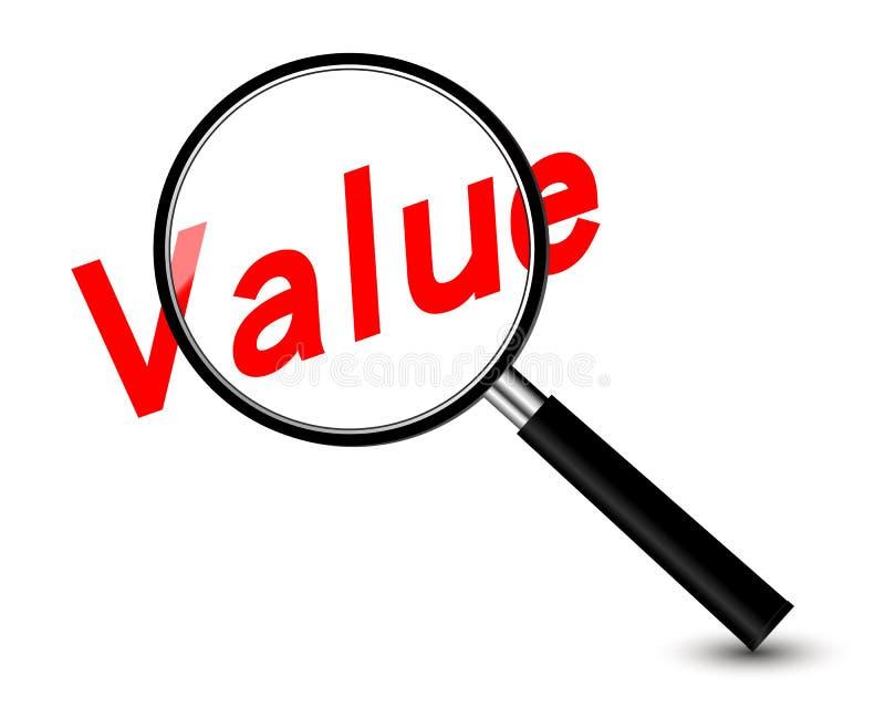 Value stock illustration