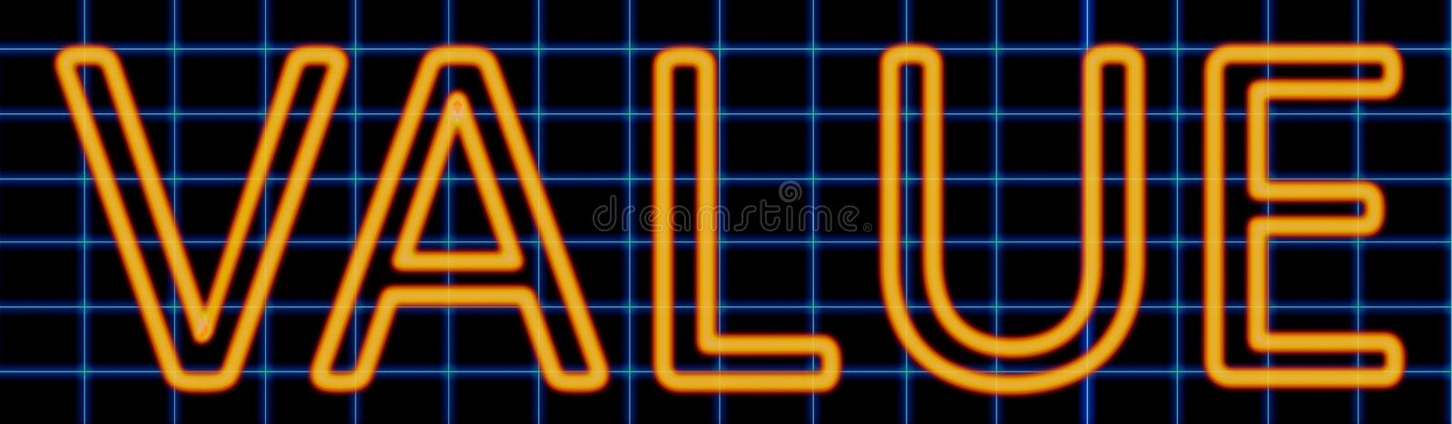 Value neon sign vector illustration