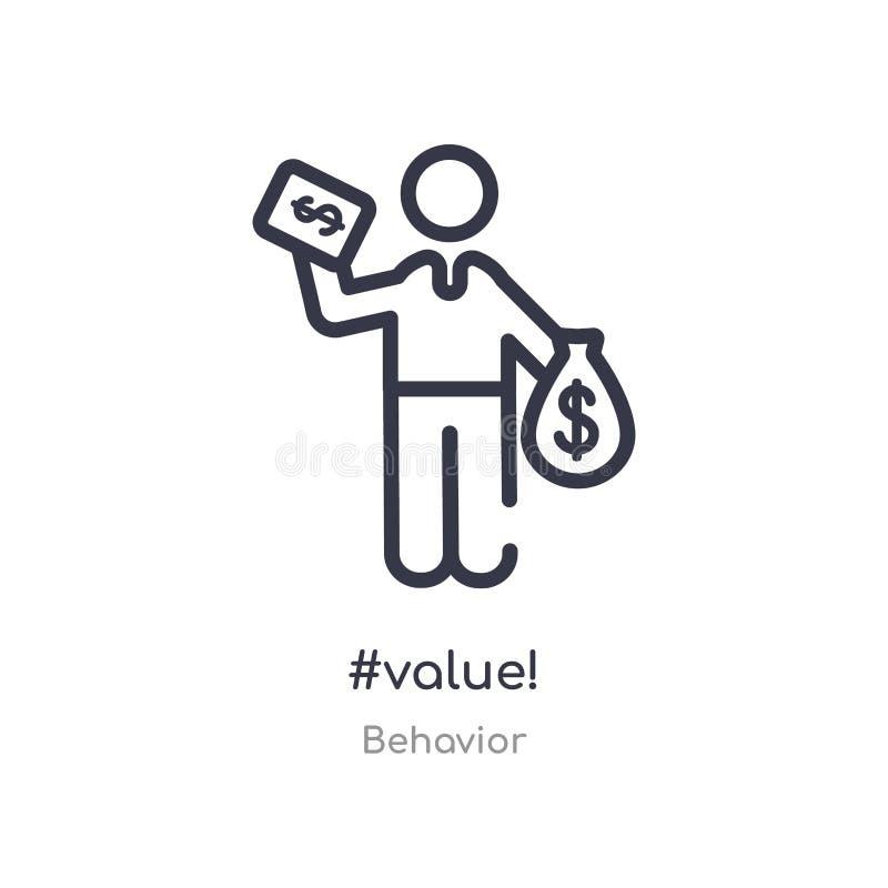 #value! overzichtspictogram ge?soleerde lijn vectorillustratie van gedragsinzameling editable dunne slag #value! pictogram op wit vector illustratie