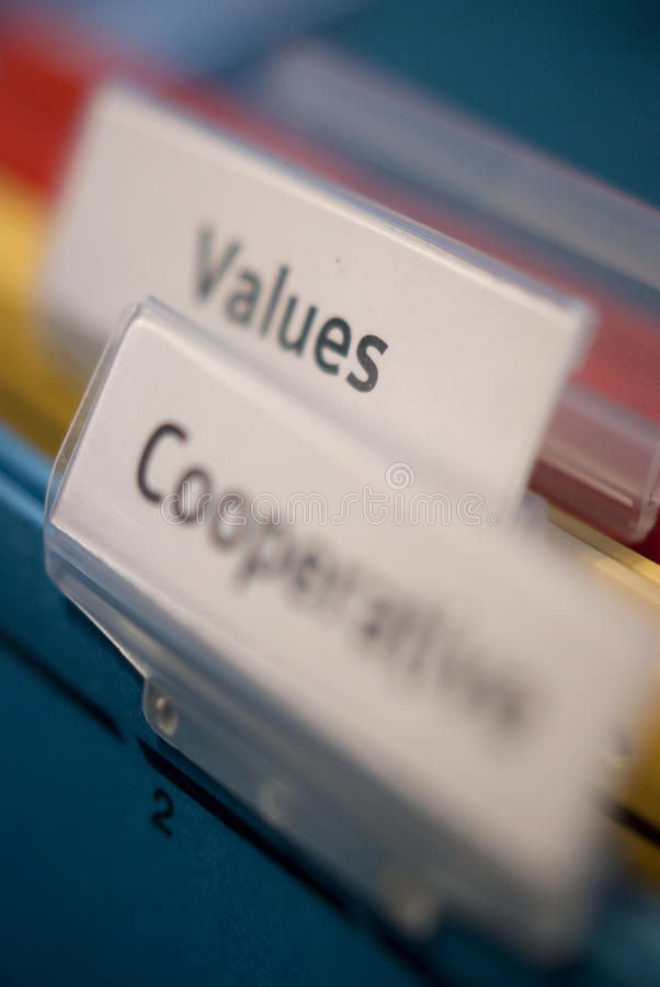 Download Values And Cooperative Tags Stock Photo - Image: 18034804