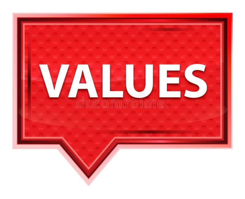Values misty rose pink banner button. Values Isolated on misty rose pink banner button royalty free illustration