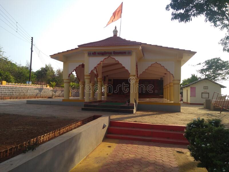 It is a Valukeshwar mandir guhagar. This is a walukeshwar temple near Guhagar beach Maharashtra India stock images