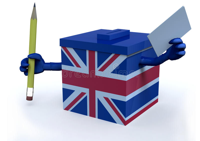 Valurna med den brittiska flaggan vektor illustrationer