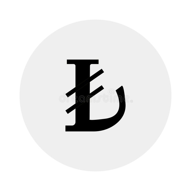 Valuta av Turkiet Vit bakgrund också vektor för coreldrawillustration stock illustrationer