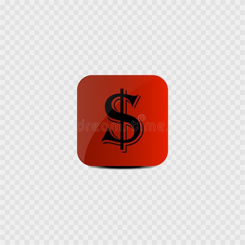 Valuta av USA - dollar Grå färgbakgrund också vektor för coreldrawillustration stock illustrationer