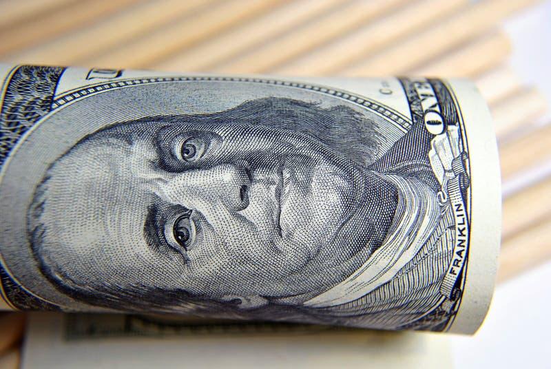 Valuta av USA slutet upp royaltyfria bilder