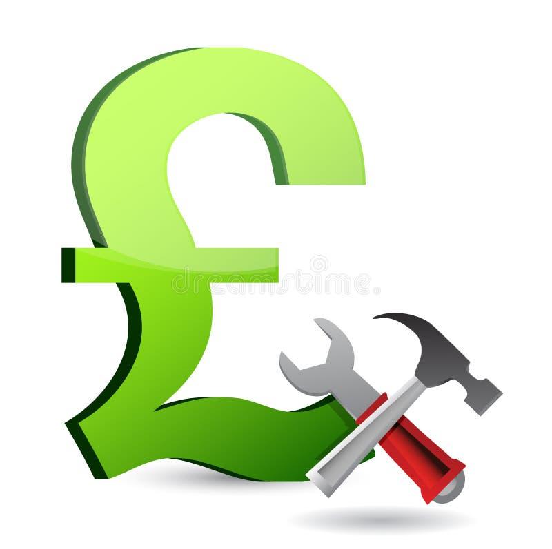 Valuta bearbetar symbol stock illustrationer