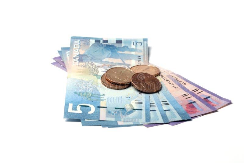 Valuta canadese fotografia stock