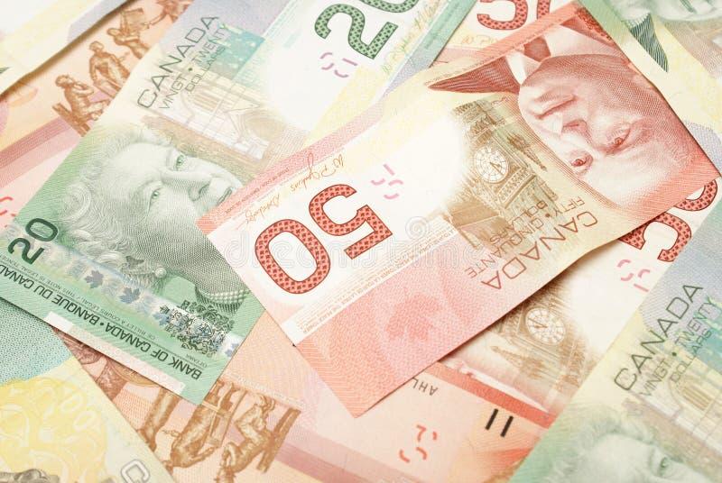 Valuta canadese immagine stock libera da diritti