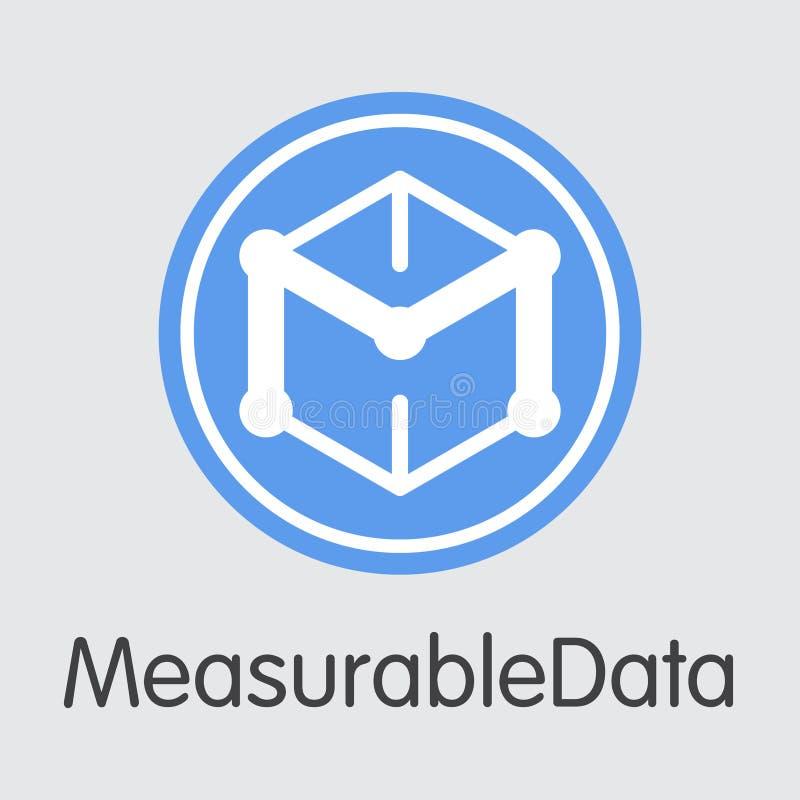 Valuta cripto di MDT Measurabledata - simbolo del pittogramma di vettore illustrazione vettoriale