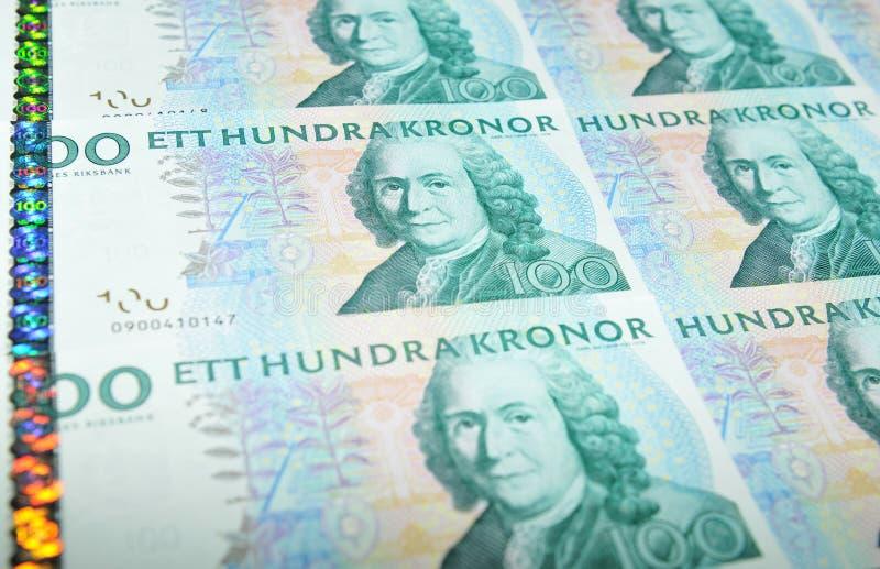 Valuta della Svezia fotografia stock libera da diritti