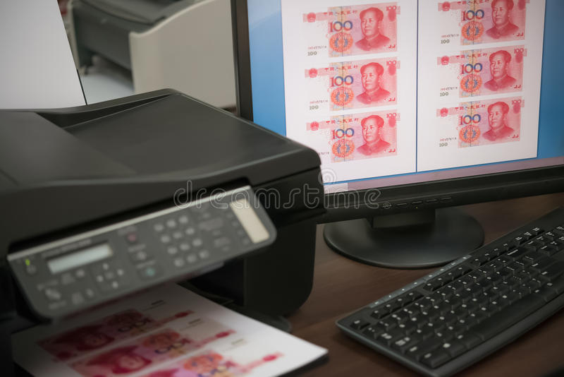 Download Valuta Di Carta Falsa Di Stampa RMB Fotografia Stock - Immagine di falso, cinese: 56876380