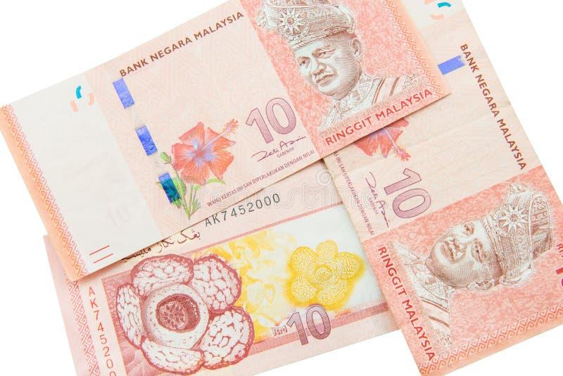 Valuta di ringgit, Malesia immagini stock libere da diritti