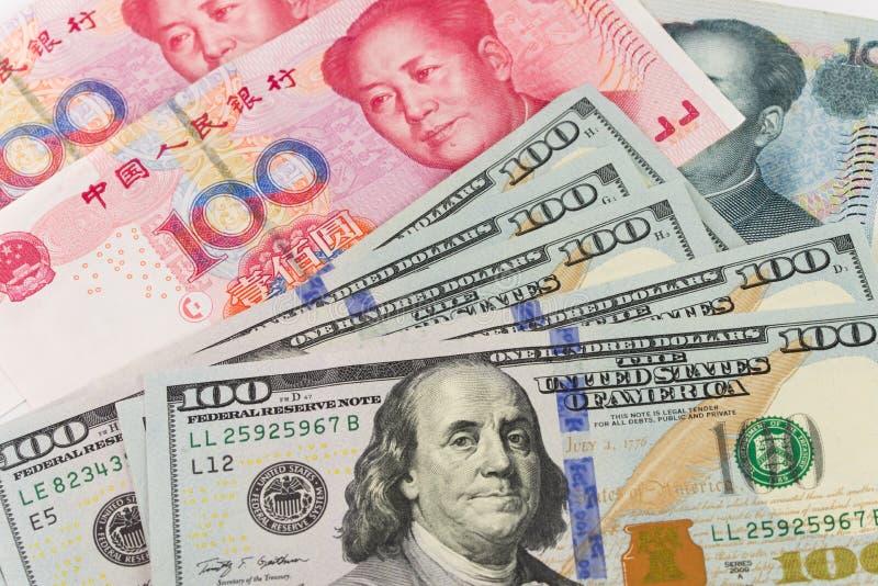 Valuta för USA Kina royaltyfri foto