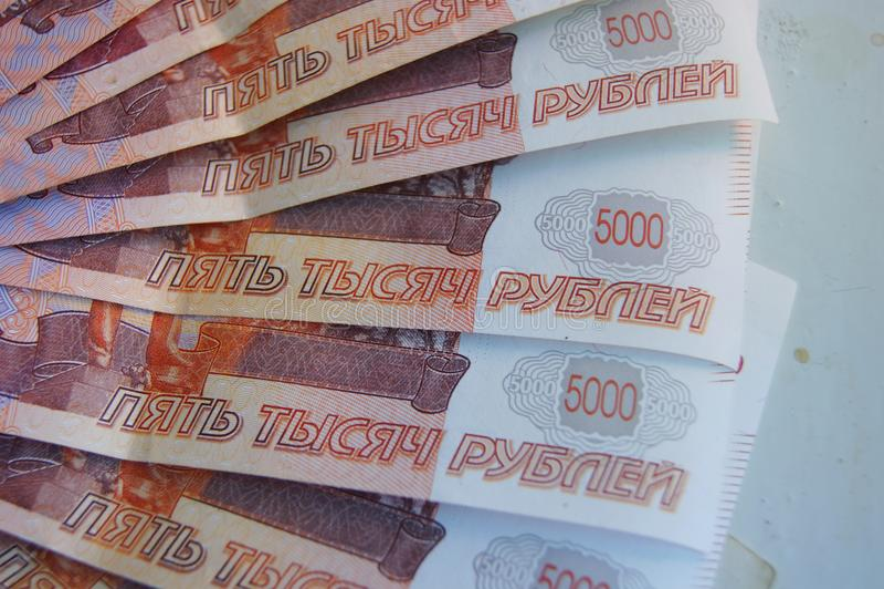Valuta russa immagini stock