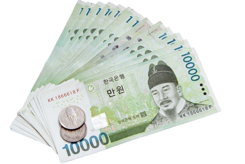 valuta södra korea royaltyfri bild