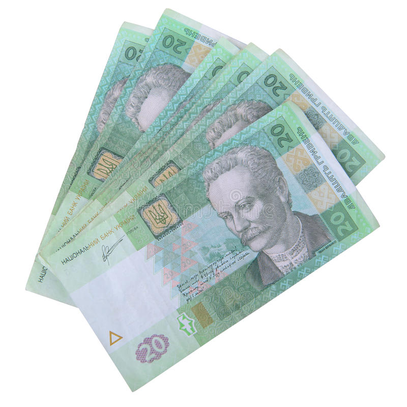 Valuta ucraina di hryvnia fotografia stock