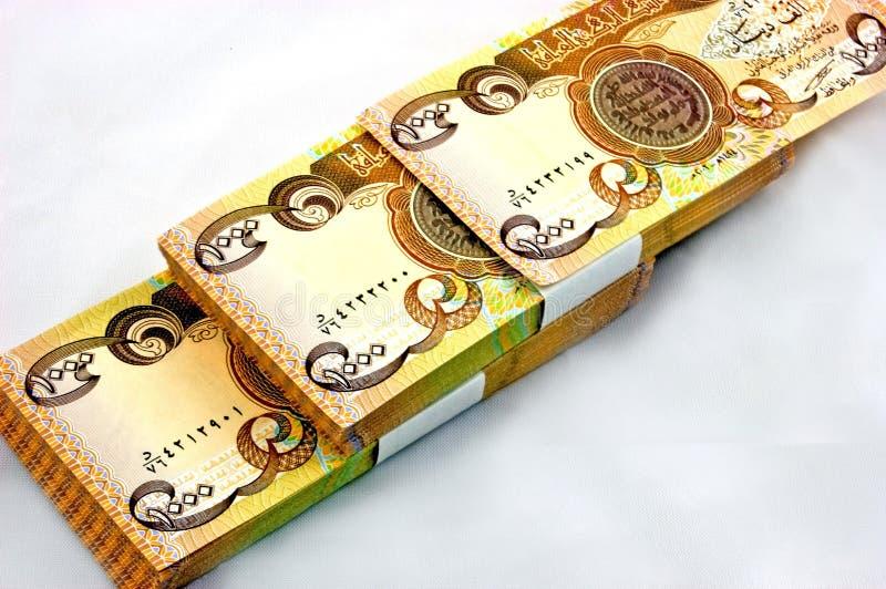 valutadinar isolerade iraq royaltyfri fotografi