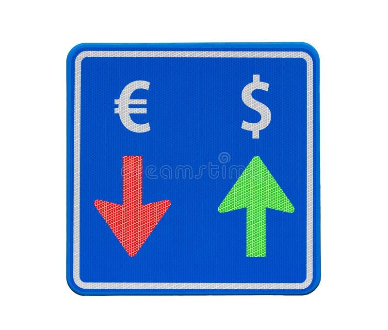 valutadollareuro en trafik långt arkivfoto